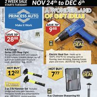 Princess Auto - 2 Week Sale - A Wonderland of Gift Ideas Flyer