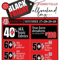 Fabricville - Black Friday All Weekend Long Flyer
