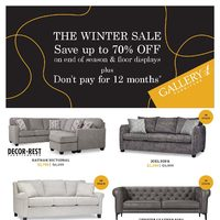 Gallery 1 Furniture - The Winter Sale Flyer