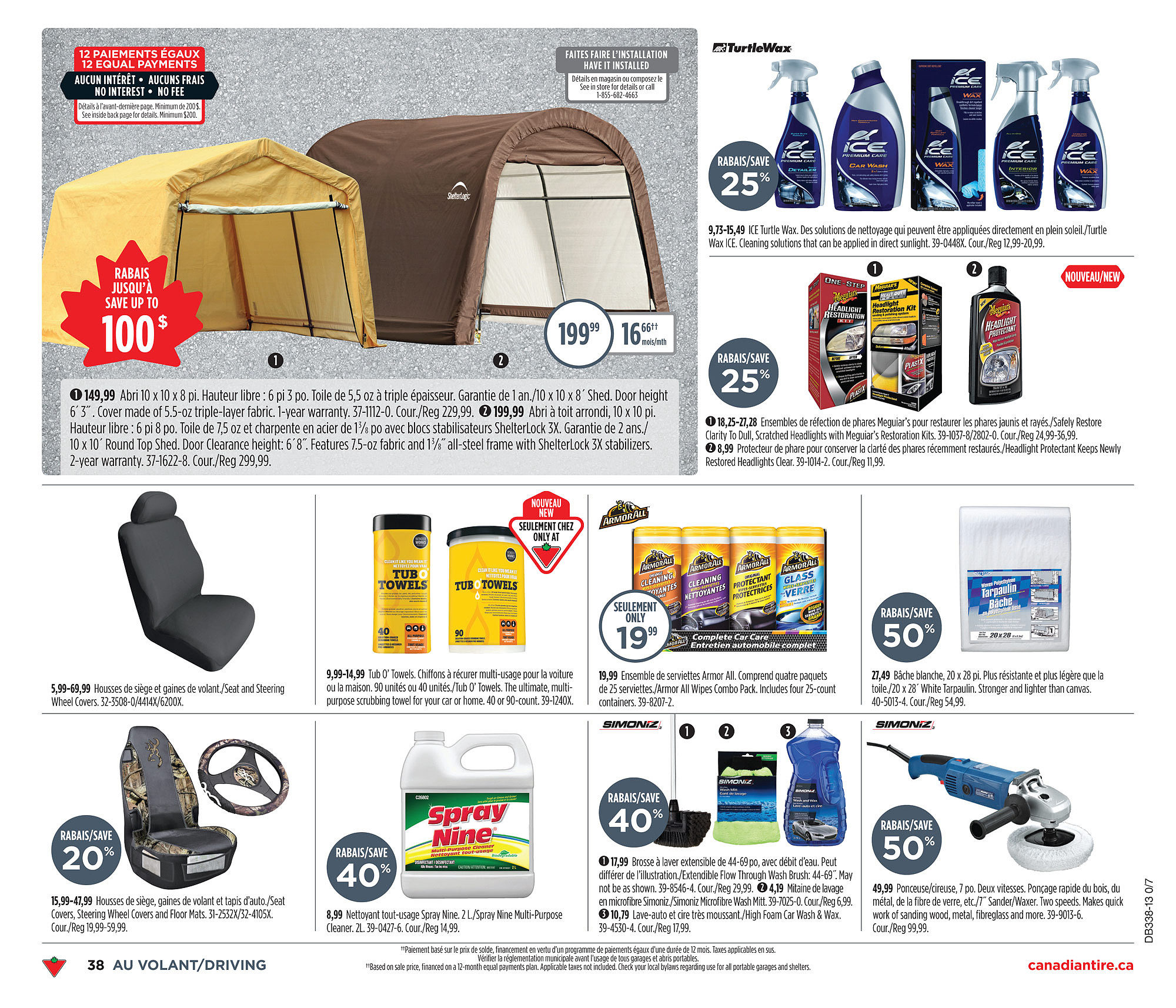 Canadian Tire Weekly Flyer Sep 12 19 Coby Mat Mono Month Blanch New M