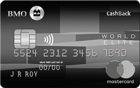BMO® CashBack® World Elite®* MasterCard®*