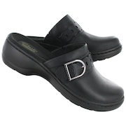 Women's HAYLA TITAN Black Leather Casual Clogs - $74.99 (25% off)