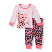 Baby And Toddler Girls Long Sleeve 'mommy's Pretty Kitty' Top And Pants Pj Set - $7.60 ($12.35 Off)