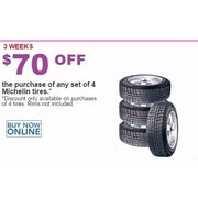 Michelin Tires - Set of 4 - $70.00 off