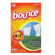 Bounce Fabric Softener - $2.10 off