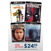 Select 4K UHD DVDs - $24.99 (Up to $7.00 off)