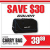 Bauer Core Carry Bag - $39.99 ($30.00 off)