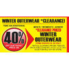 Winter Outerwear - 40% off