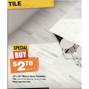 "12"" x 24"" Biano Nuvo Porcelain Tile - $2.78/sq. ft."