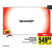 "Sharp 55"" 4K Ultra HD LED Smart TV  - $549.99"