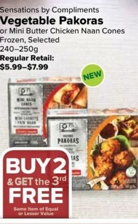 Thrifty Foods Sensations By Compliments Vegetable Pakoras Or Mini