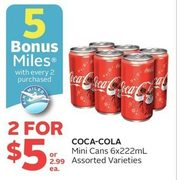 Coca-Cola Mini Cans  - 2/$5.00