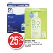 25% Off Bausch & Lomb Multi-Purpose Solution