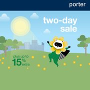 Porter 2-Day Sale: One-Way Flights Starting at $109 + Take an Extra 15% off Select Fares!