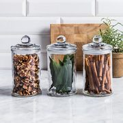 KSP Classic Glass Canister with Lid - Set of 3 - $5.00 (37% off)