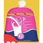 Beatrice Milk Skim 1% Or 2% - $4.39
