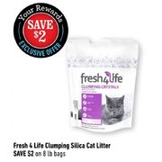Fresh 4 Life Clumping Silica Cat Litter - $2.00 off