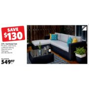 3 Pc. Sectional Set - $549.97 (Save $130.00)