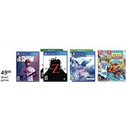 Select Games - $49.99