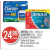 Aerius or Claritin Allergy Products - $24.99