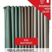 "52"" X 84"" Room Darkening Curtain With Grommets - $10.00 (Up to 79% off)"
