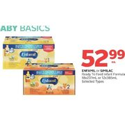 Enfamil or Similac Ready to Feed Infant Formula - $52.99