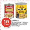 Campbell's Ready To Serve Or Habitant Soups - $1.99