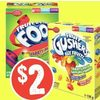 Fruit by the Foot or Gushers Bugles - $2.00