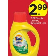 Tide Simply Laundry Detergent - $2.99