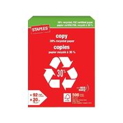 Staples 30% Recycled Letter-Size Copy Paper - $8.09 (10% off)