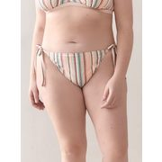 Side Tie Striped Bikini Bottom - Addition Elle - $9.99 ($10.00 Off)