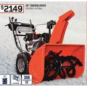 "30"" Snowblower - $2149.00"