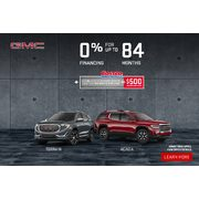 GMC: The Fall in to Savings event is on at GMC! Get 0% financing up to 84 Months on select models (Manitoba Only)