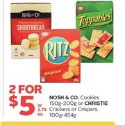 Nosh & Co. Cookies Or Christie Crackers Or Crispers - 2/$5.00