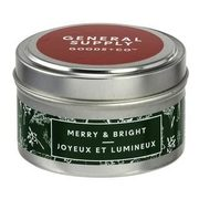 General Supply Goods + Co Travel Tin Candles - Merry & Bright - 2/$15.00