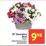 "10"" Decorative Bowl - $9.98"